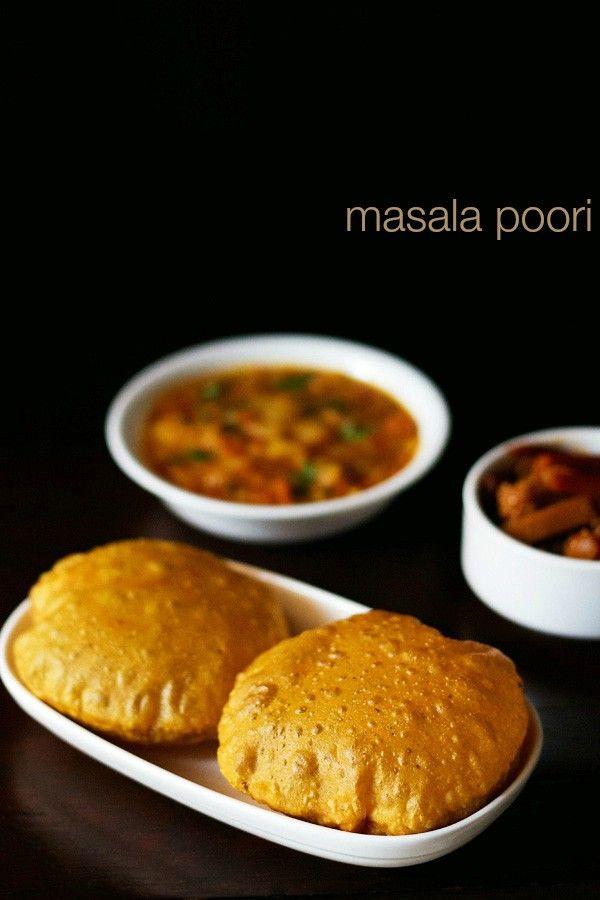 masala poori recipe, how to make masala poori | spicy puri
