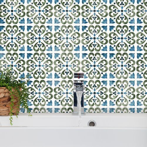 Nice Tangier Tile Schablone lagige Mediterrane Spanisch maurischen M bel Boden Wand Schablone Medium