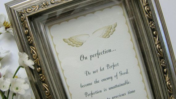 ON PERFECTION; Gift for perfectionist, Gift for dancer, Sister gift, Teen gift, Musician gift, Gift for musician, Gift for workaholic