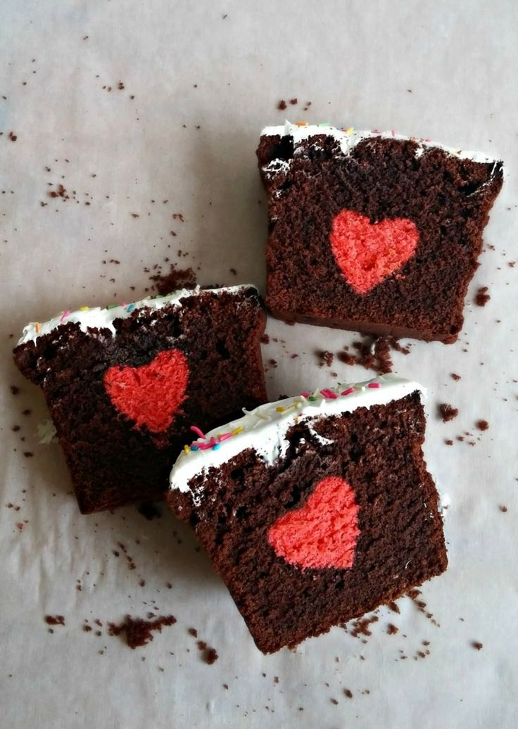 Kastenkuchen mit Herz innen - Origineller Rührkuchen mit Überraschung