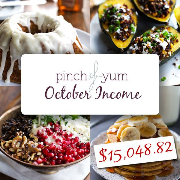 The Food Blog Money Making Experiment - October Results