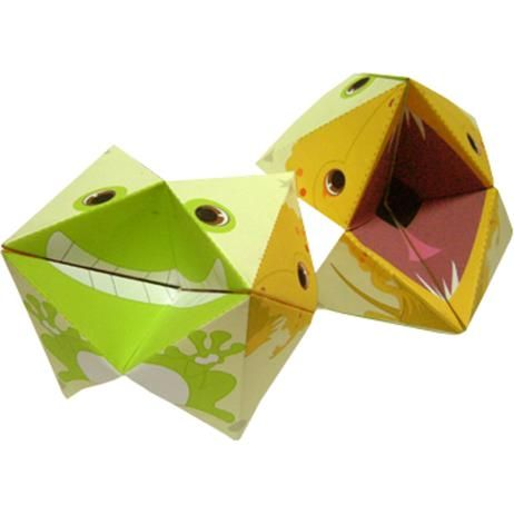 Vanger,Origami,Kunst,Azië/Oceanië,groen,hagedis,kikker,kikker,speelgoed,origami