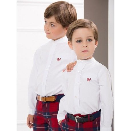 Un conjunto clásico de la marca Marta y Paula en escocés burdeos de nuestra sección Conjuntos para Niño. Elegimos lo mejor para ellos  www.pepaonline.com