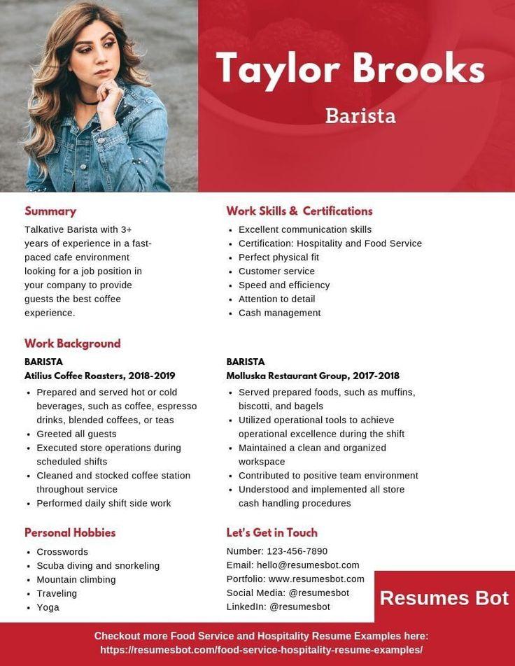 Resume examples Barista Resume Samples & Templates [PDF