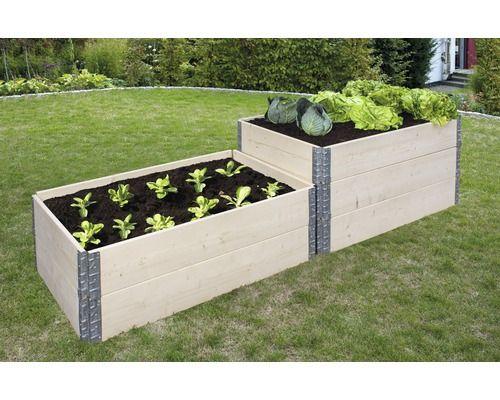 Hochbeet Stecksystem Wandstarke 20 Mm 120x80x20 Cm Natur Hochbeet Garten Terrasse Garten
