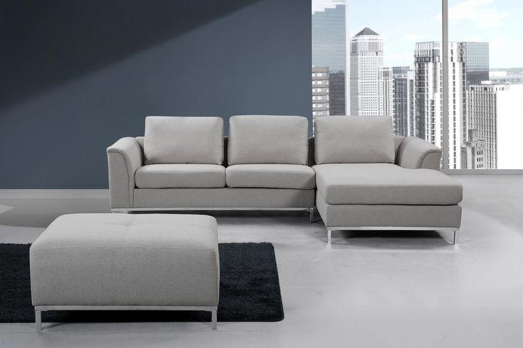 VELAGO - OLLON Fabric Sectional Sofa (L)