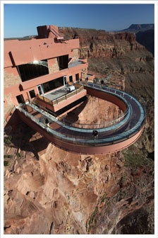 Grand Canyon Skywalk, Western rim in the Hualapai Reservation.  2 hours from Vegas.