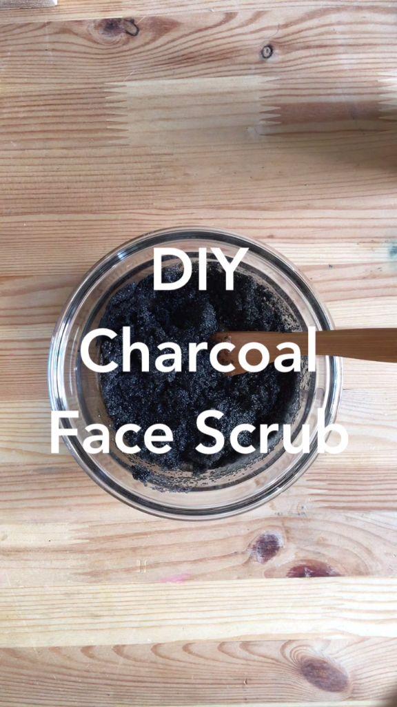 DIY Face Charcoal Scrub