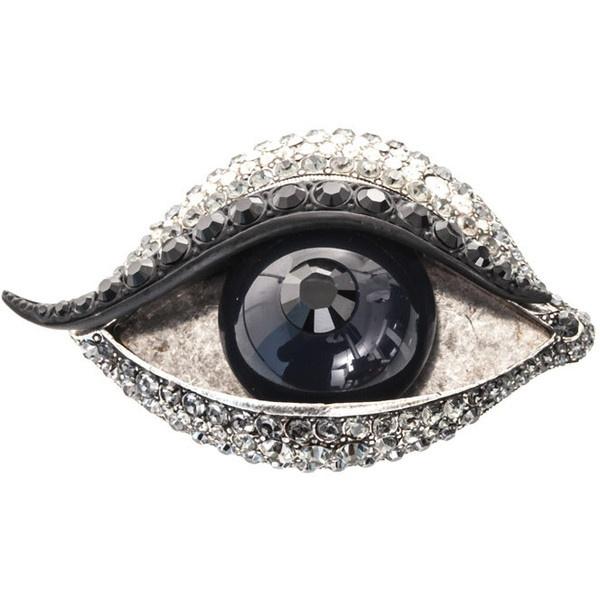 Can you do eye make up like that ... jk its Lanvin Les yeux d'elsa eye brooch ($524)