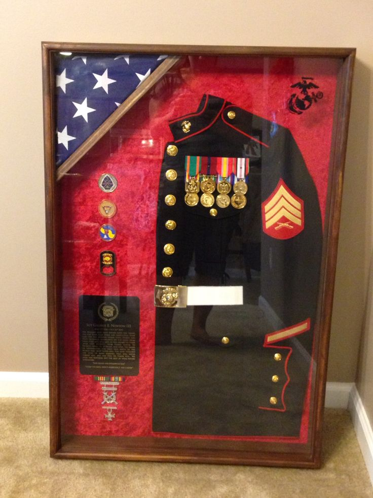Marine Corps Shadow Box I Made For An Amazing Marine
