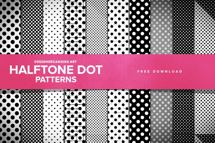 Free Halftone Dot Patterns for Photoshop by DesignerCandies.deviantart.com on @DeviantArt