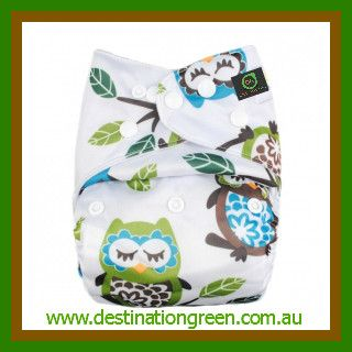 Modern Cloth Nappy - Big owl, $14.95