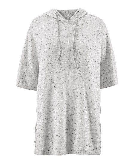 aebc4ac9618 cabi Speckle Heather Gray In Stitches Pullover - Women | zulily ...