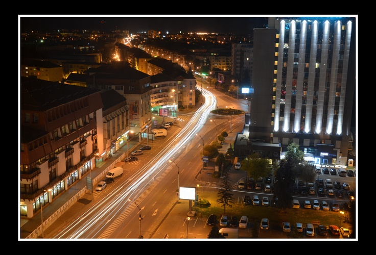View from eleven floor of Ramada Hotel in Sibiu.