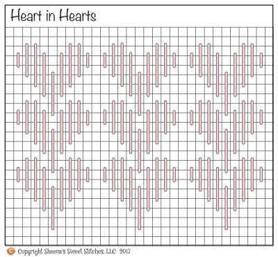 Heart in Hearts © - Sheena's Sweet Stitches