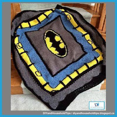 DIY And Household Tips: Crochet Batman Blanket Pattern