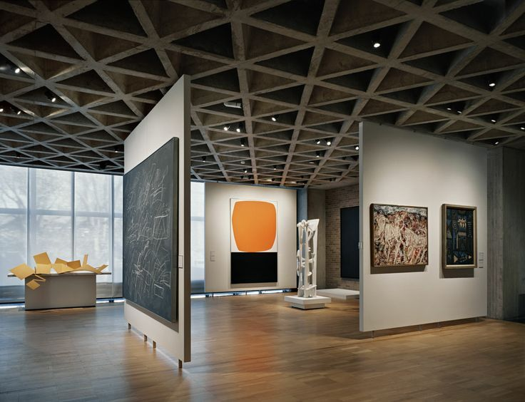 louis kahn yale art museum interior concrete triagular ceiling coffered ceiling rothko. Black Bedroom Furniture Sets. Home Design Ideas