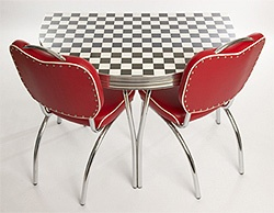 Route 66 Half Round Retro American Diner Furniture