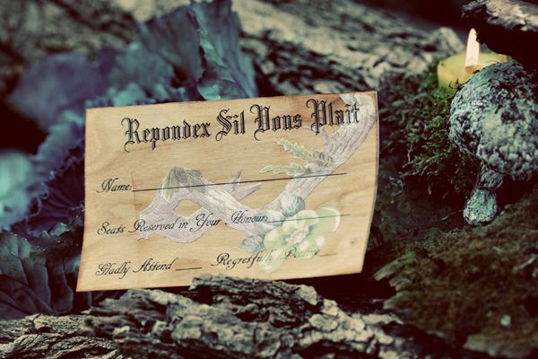 Whimsical french reply card Repondez Sil Vous Plait