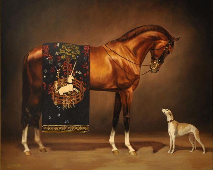 "Jaime Corum Equine Art   'Her Treasures' This painting called ""Her Treasures"" is one of my favorites. It was part of my Coeur du Cheval show at The Brown last year."