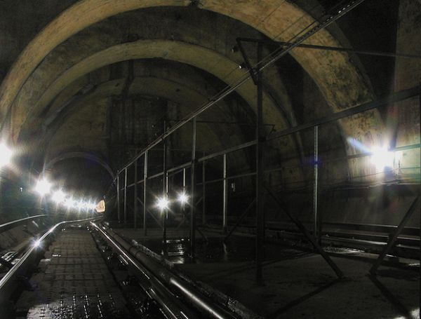 Merkland Street Station is the only abandoned ghost station on the Glasgow District Subway underground railway network, opened in 1896 and closed in 1977