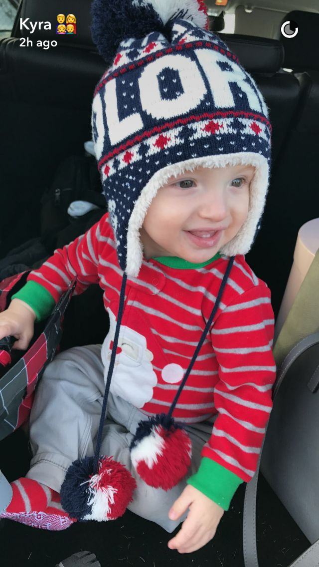 He looks so cute with the hat on!