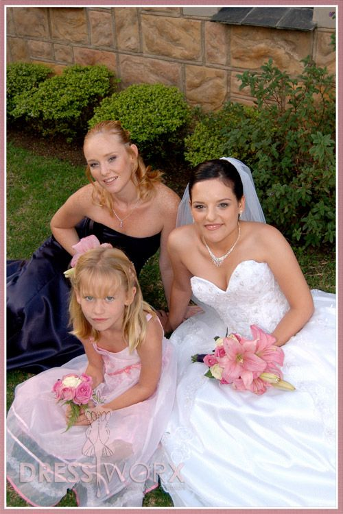 Lovely Trio - Weddings - Designed and sewn by Verne Smit