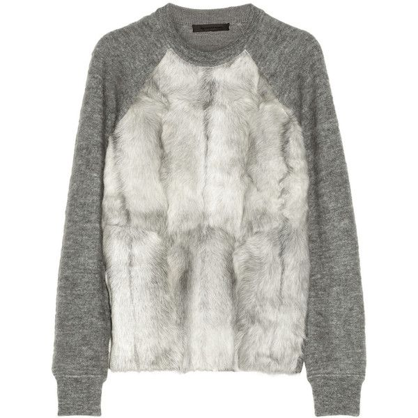 Alexander Wang Goat-paneled wool-blend sweater by None, via Polyvore