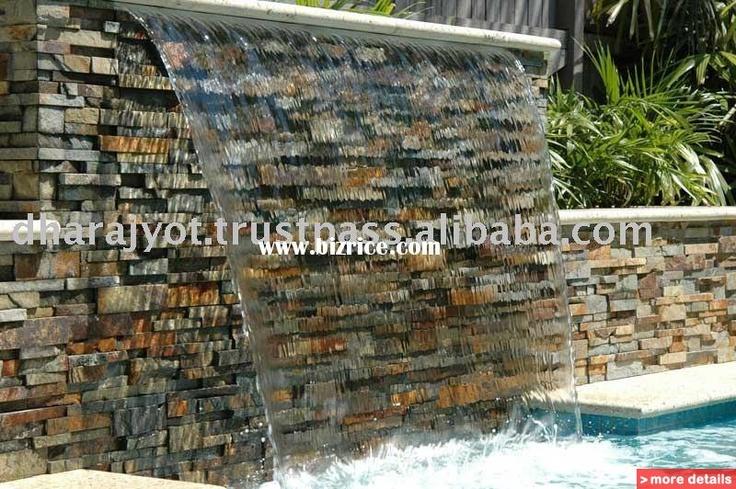 Garden Water Wall Outdoor Slate Stone Wall Fountain Ft5