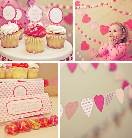 The Busy Budgeting Mama designed this stunningly sweet Valentine's Day decor, and she even has a tutorial on how to make these stunning heart garlands!