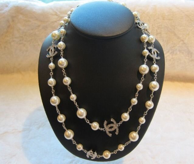 Authentic Chanel Pearl Necklace   chanel   Chanel pearl ...