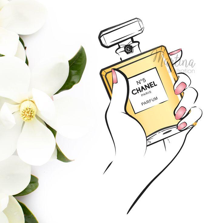 chanel perfume no5 beauty illustration