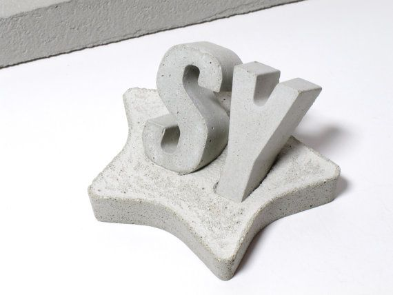 Concrete alphabet / letter with Star shape by ShabibiSheepWorkshop
