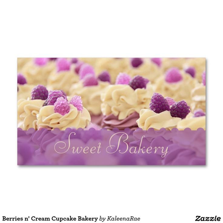 37 best tarjetas images on pinterest bakery shops bakery business berries n cream cupcake bakery double sided standard business cards pack of make your own business card with this great design reheart Choice Image