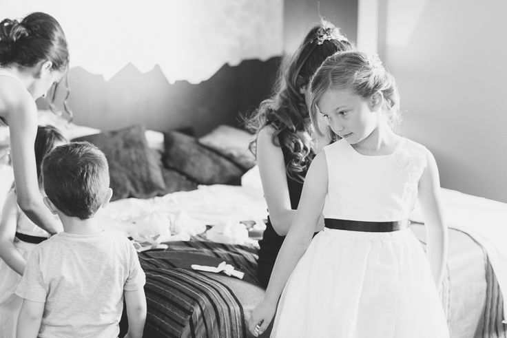 flower girl getting ready Ireland Wedding Photography