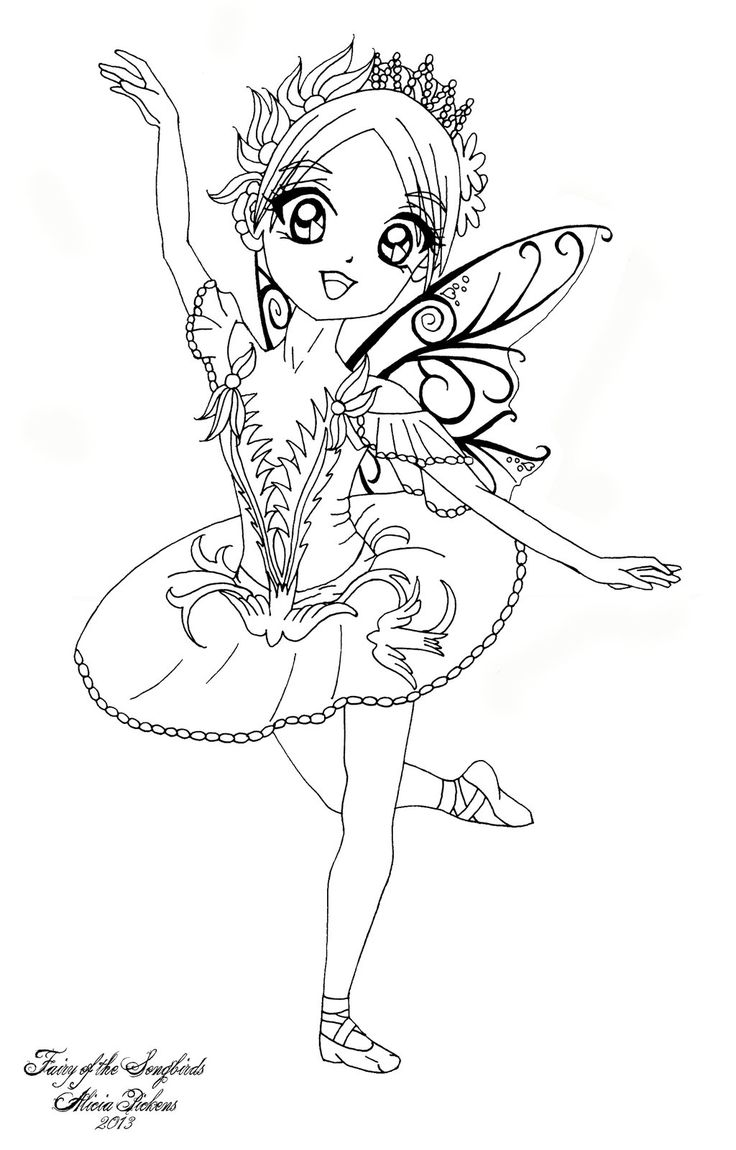 I decided to draw all six fairies from the ballet sleeping beauty as cute chibis feel free to color this however you like please just leave my signa