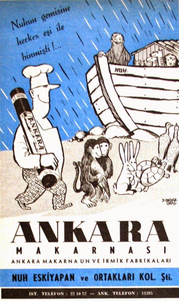 OĞUZ TOPOĞLU : ankara makarnası 1957 nostaljik eski reklamlar