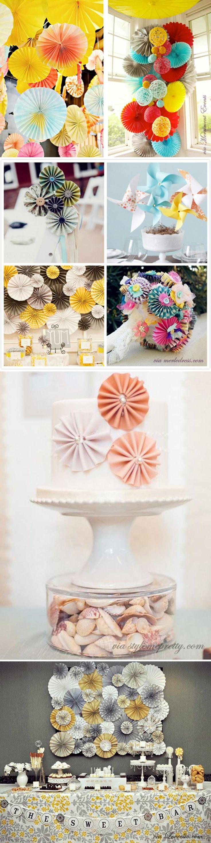 papierowe ozdoby rozety ślub wesele dekoracje sali dekoracje proste zrób to sam