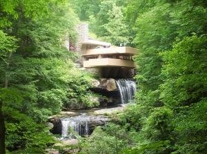 Frank Lloyd Wright's Running Water House. A river runs beneath!