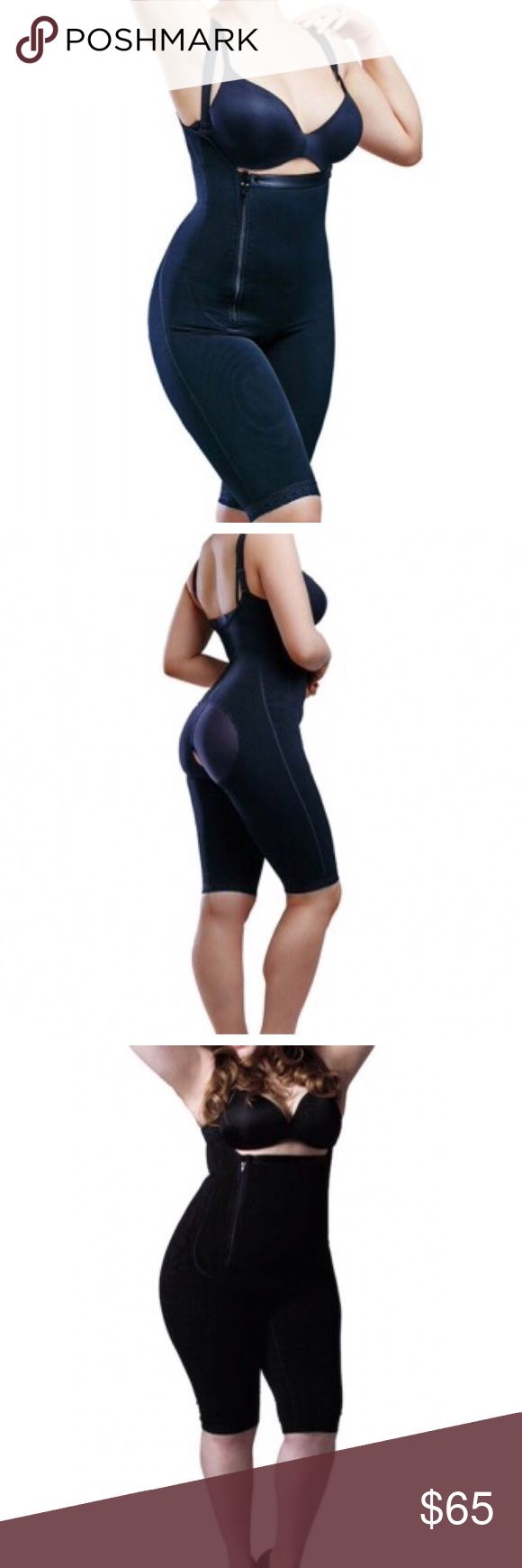 Full Body Garment Shaper Tummy and Thigh Control Full Body Garment Shaper with zipper closure and open crotch to use the bathroom. Garment runs true to size with stretch. Raises buttock as well. Please feel free to ask any questions. Intimates & Sleepwear Shapewear