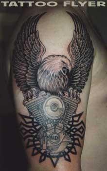 harley davidson tattoos | Wolf Tattoo Wien - LiLz.eu - Tattoo DE