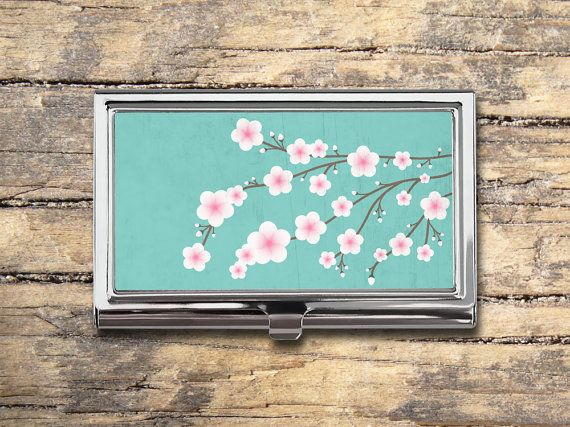 Cherry Blossom Business Card Case - Cherry Tree - Card Holder