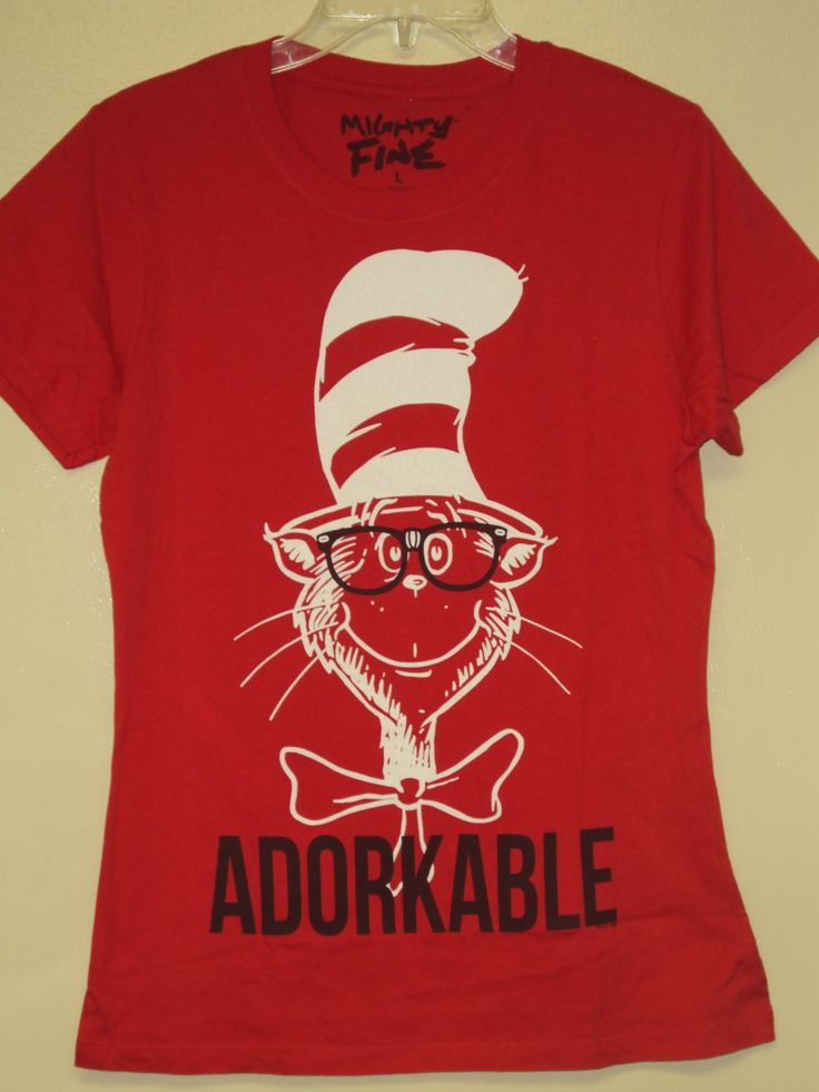 Dr. Seuss Red ( Cat in the Hat Adorkable ) T-shirt | eBay