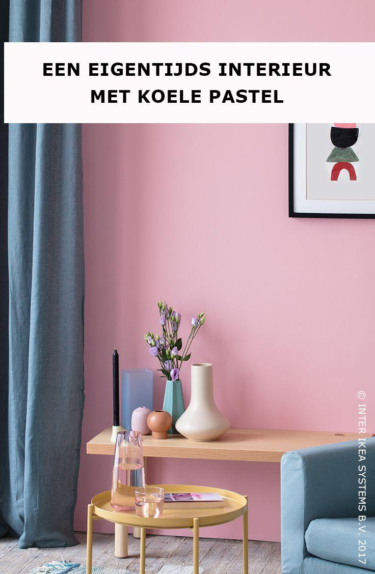 Eigentijds en een tikje artistiek, ga voor lichte pasteltinten zoals schelproze of poederblauw en geef je woonkamer een rustgevende toets. Ontdek onze decoratietrends. LEJONGAP Gordijnen, 39,99/st. #IKEABE #IKEAxCoffeeklatch  Modern and a tad artistic, opt for pastels such as soft pinkt or powder-blue and give your living room a soothing touch. Discover our home decor trends. LEJONGAP Curtains, 39,99/st. #IKEABE #IKEAxCoffeeklatch