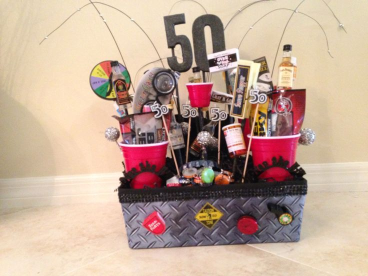 50th Birthday Gift Basket Ideas : Th birthday basket diy birthdays