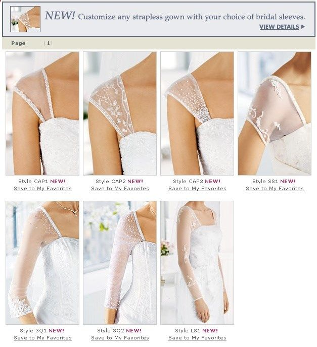 Technique | Add sleeves/straps to strapless dresses | this is defintely useful