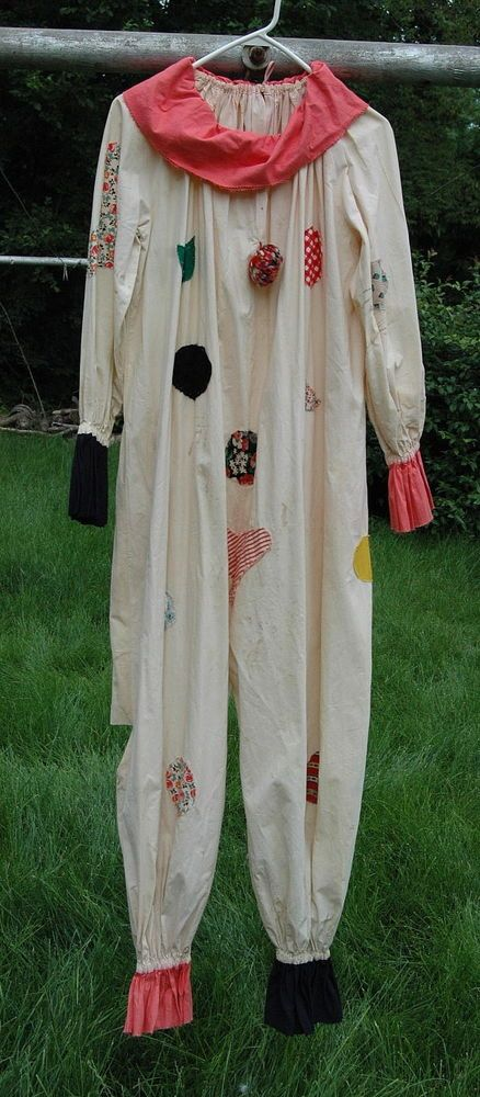 Cool old 1930s Classic Clown Suit vintage Outfit Costume from Shriner's Estate