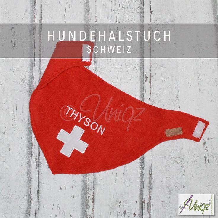 Halstuch für Hunde Schweiz     Uniqz Hundehalstuch - der Schweizer Flagge nachempfunden. Besonders schön für Schweizer Sennenhunde, auf Wunsch auch mit Namen bestickt.  .  .  .  .  #hundehalstuch #halstuchfürhunde #bernersennenhund #schweizersennenhund #sennenhund #hund #entlebuchersennenhund appenzellersennenhund #bernhardiner #BergerBlancSuisse #uniqz