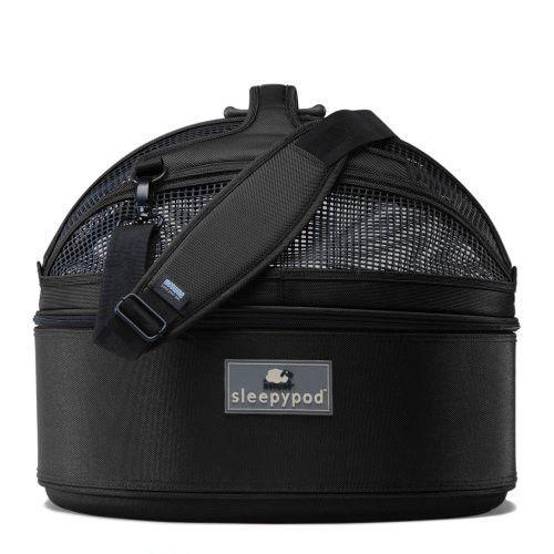 Sleepypod Mini SM-BLK Mobile Pet Bed (Jet Black) Small