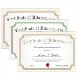 A certificate of achievement plays a motivational role in any commercial or educational institution. This article provides you with some well-drafted templates, to help you create achievement certificates.